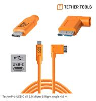Tether Tools USB-C til USB3.0 MICRO-B vinkel  4.6m