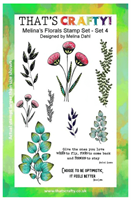 A5 clear stamp set Melina´s Florals set 4