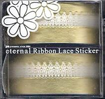 DL- Sticker Ribbon lace white 01
