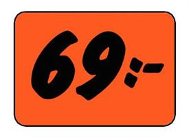Etikett 69:- 50x30mm