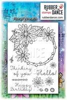 Rubber stamp set Floral Wreath