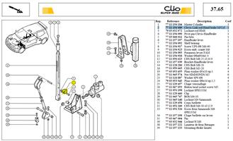 CHAPE DE TIGE FREIN A MAIN - Clevis-Link rod-Hand brake M/Cyl