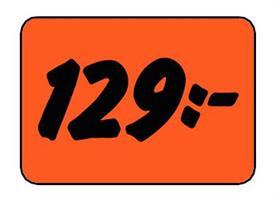 Etikett 129:- 30x20mm