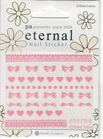 DL- Sticker Heart bow lace pink