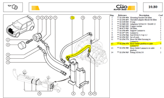 TUY SORT LAMIN - Hose-Outlet Laminova to inlet gearbox