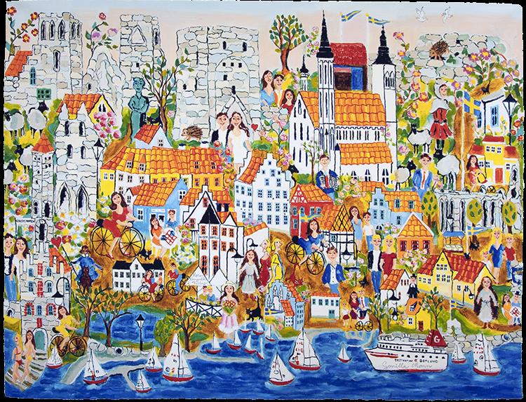 Rosenromantik i Visby
