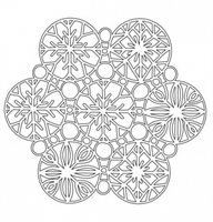 Mask 6x6 inches Snowflakes
