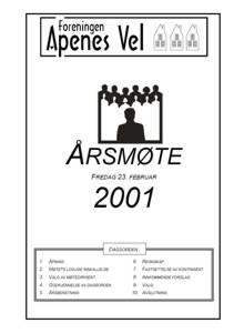 Program for Årsmøte 2001