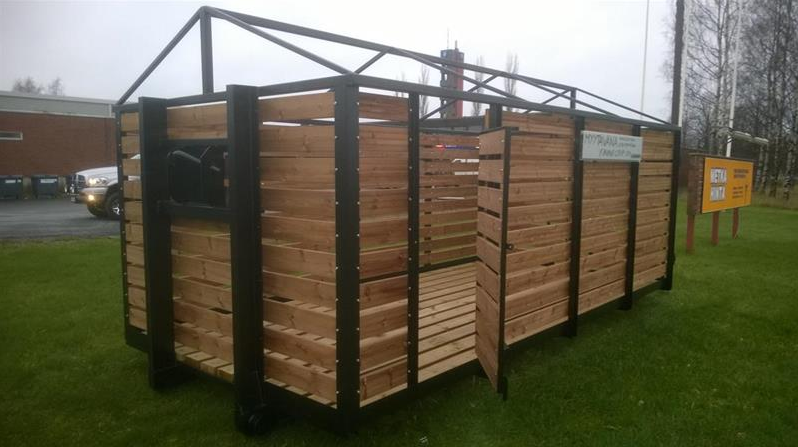 We also provide platforms for firewood, standard size platform is 5,0 x 2,4 x 2,4.  They can also be custom made.  The platform can easily be turned into a storage space. A high quality tarpaulin is included.  Starting price eur 2950 /vat 0
