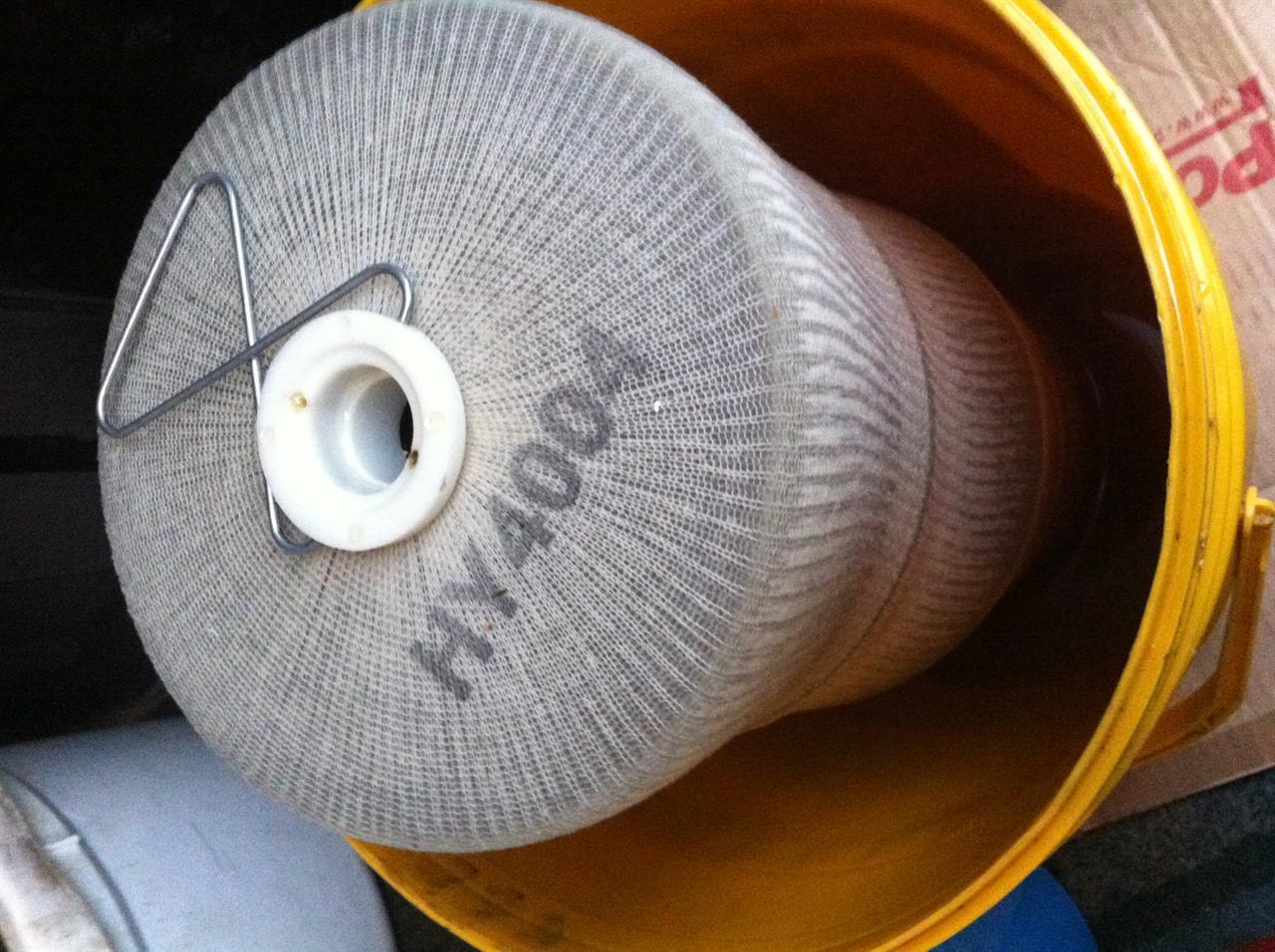 Filterelement etter rens der det var mye skitt / kontaminasjon i hydraulikkolje.