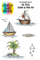 A5 Clear stamp set Sail Boats