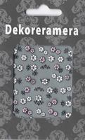 DM- Sticker Flower Pink & White