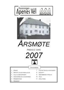 Program for Årsmøte 2007