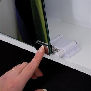 Badrumsskåp 48cm VIT LED