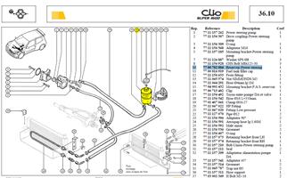 VASE D`EXPENSI - Reservoir power steering