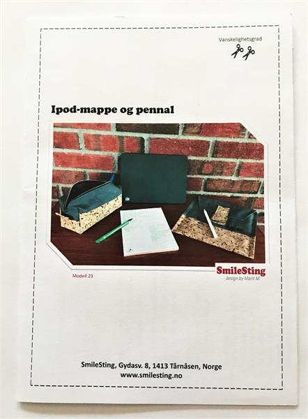 Mønster til Ipod-mappe og pennal