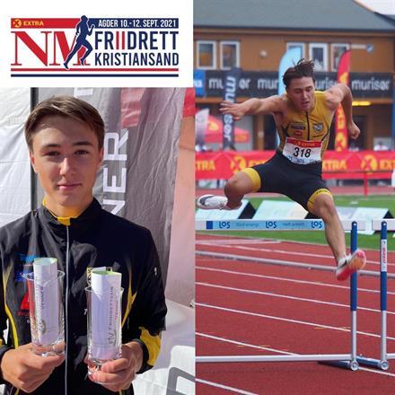 NM: «Pers»-premie til Bastian Elnan Aurstad (Steinkjer) som kom på toppen av sin «personlige pall» i to øvelser.