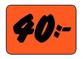 Etikett 40:- 50x30mm