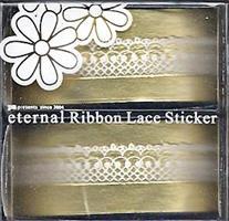 DL- Sticker Ribbon lace white 02