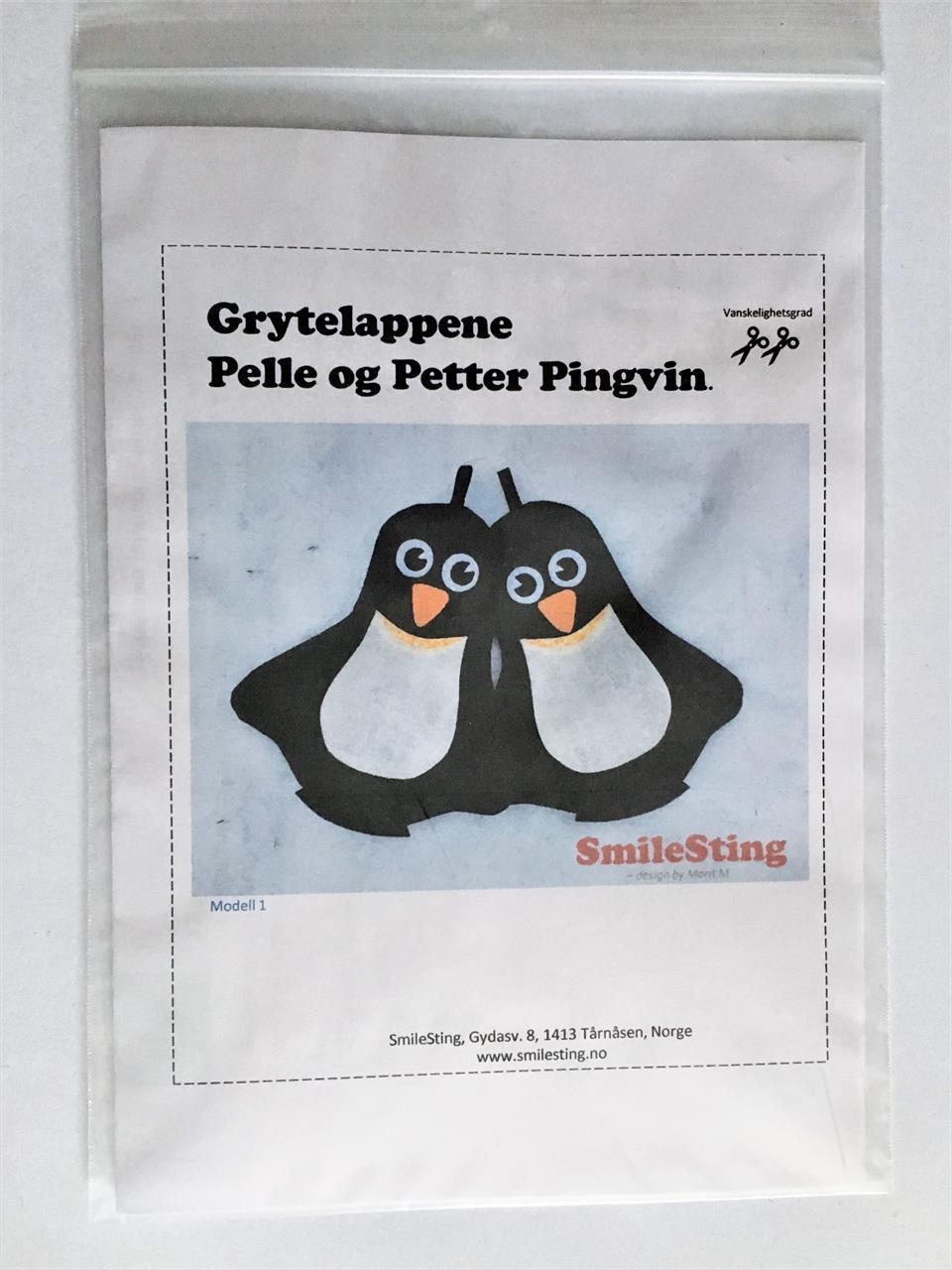 Mønster til Pelle og Petter Pingvin