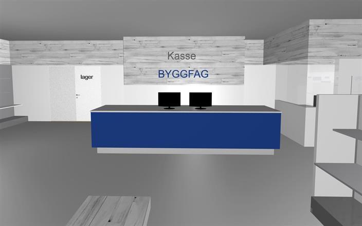 Byggfag Herøy, Bygg & System AS. 3D bilde: Amaline