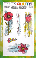A5 Clear stamp set Flowers Collection set 3