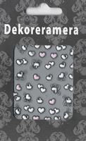 DM- Sticker Heart white & pink