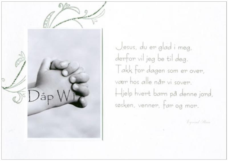 Jesus, du er glad i meg - Håndlaget kort
