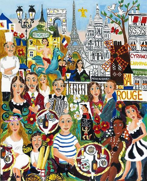 Glädje över Paris