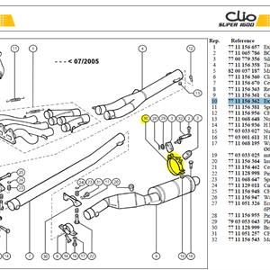 COLLIER FIXATI - Exhaust clamp-Silencer
