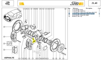AXE FIX ETRIER AVANT - Stud-brake caliper to upright