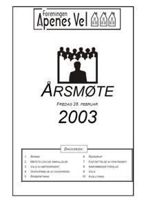 Program for Årsmøte 2003