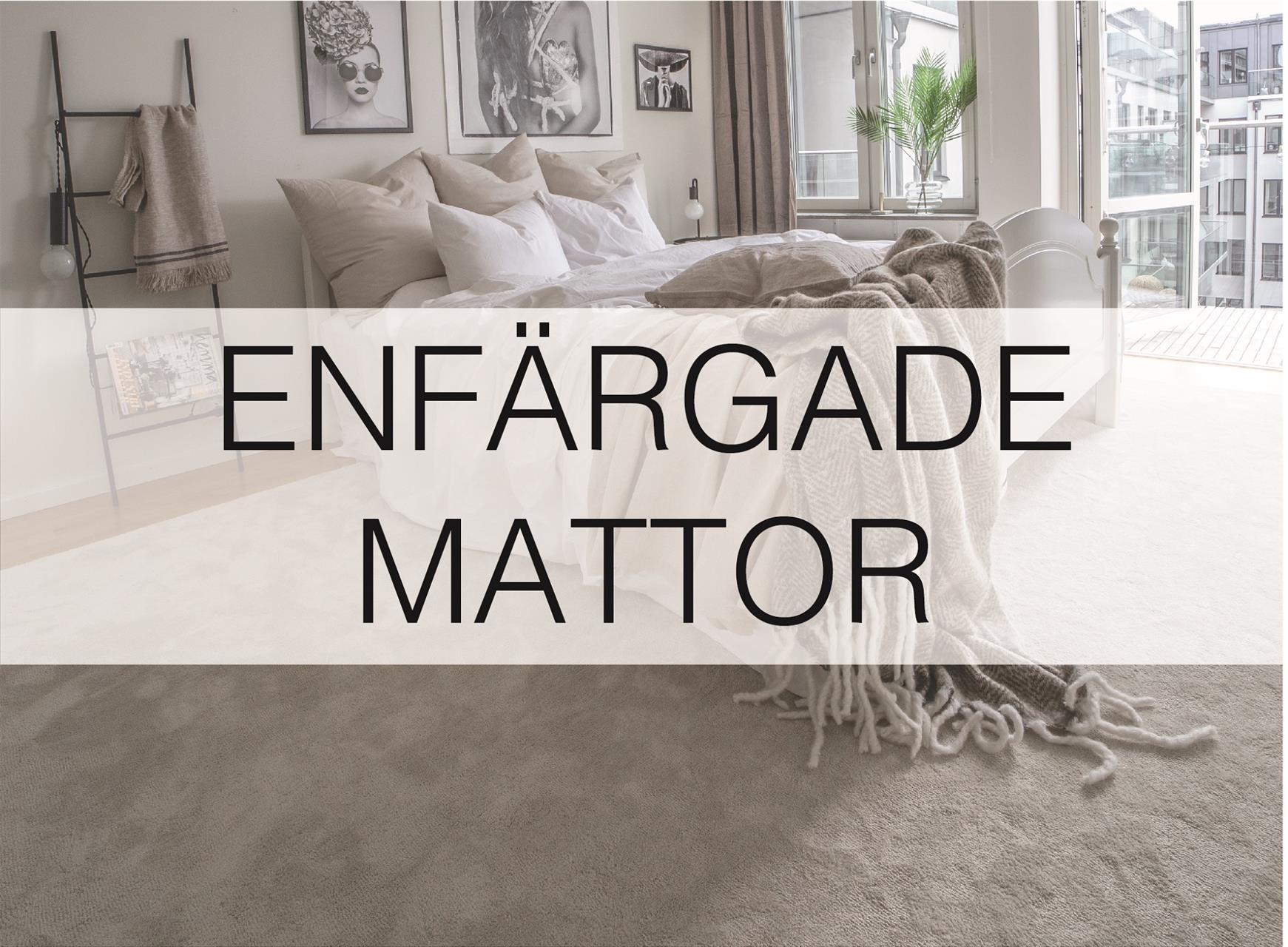 Enfärgade mattor