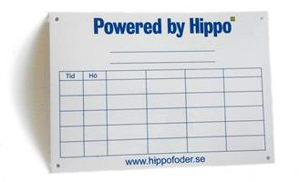 Fodertavla Hippo