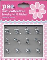 DL- Sticker Jewel silver rose