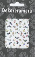 DM- Sticker Flower multi silver