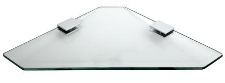 Glashylla hörn 28 cm- Klarglas - Krom