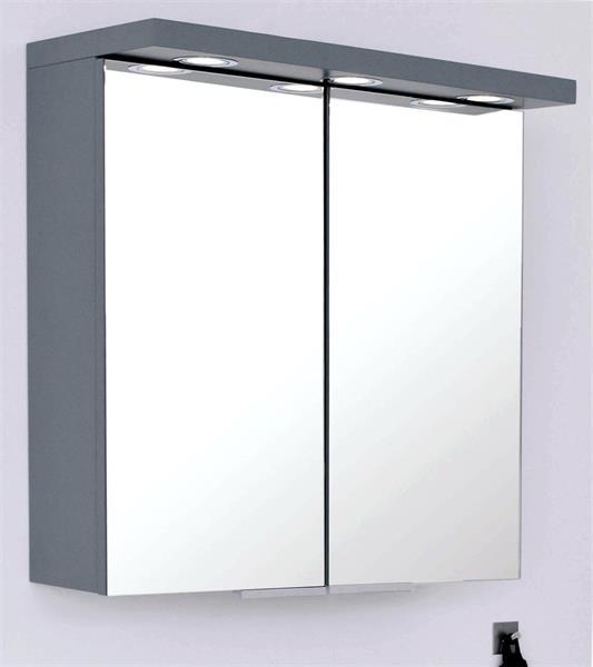 Badrumsskåp LED  60CM GRÅ