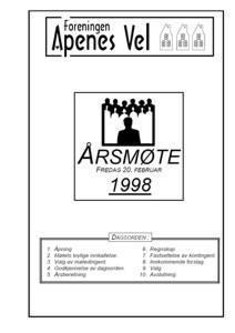 Program for Årsmøte 1998