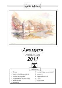 Program for Årsmøte 2011