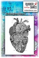 Rubber stamp Entangled heart