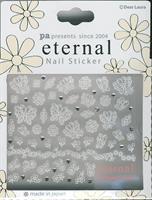 DL- PA Sticker Flowers & Butterflies White