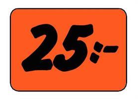 Etikett 25:- 30x20mm