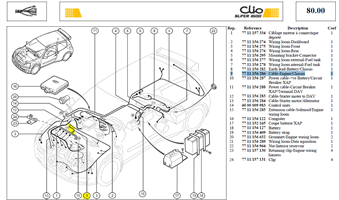 CABLE LIAI-MOT - Cable-Engine/Chassis