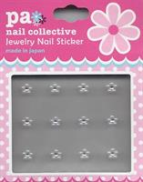 DL- Sticker Jewel flower white