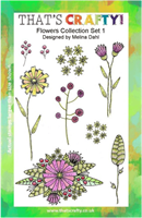 A5 Clear stamp set Flowers collection set 1