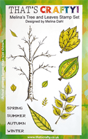 A5 Clear stamp set Melina´s Tree and Leaves