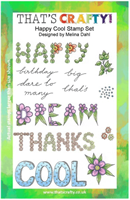 A5 Clear stamp set Happy Cool