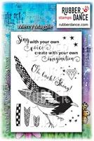 Rubber stamp set Merry Magpie