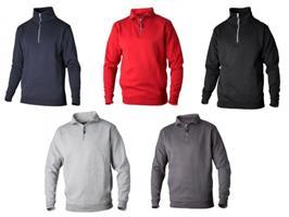 Sweatshirt kort zip 0102